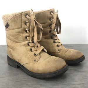 Roxy boots lace up knit size 6.5